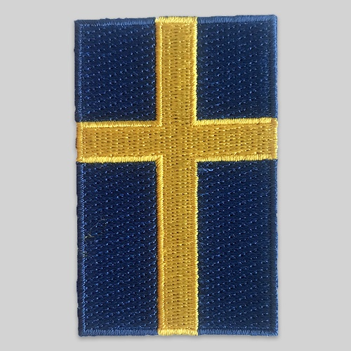 Embroidered flag