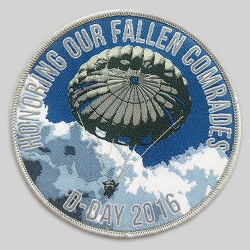 Woven patch detailed parachute