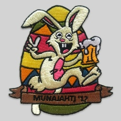 Embroidered badge rabbit